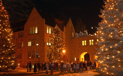 The St. Paul campus' Christmas tree-lighting ceremony is a St. Thomas tradition.