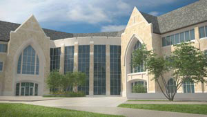 This is the student center's quadrangle entrance.