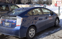 Two 2010 Toyota Prius Hourcars are available by the hour or by the day at UST's St. Paul campus.