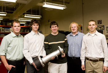 This student team designed a heat-pipe application that converts energy from heat into electricity.