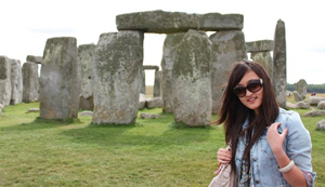 Qi (Linda) Geng visited Stonehenge while studying abroad in England.