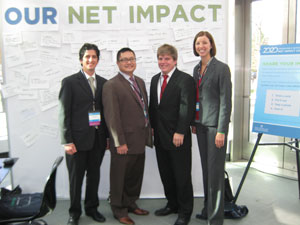 Members of the St. Thomas Net Impact team are, from the left, Sean Elder, Bill Grau, Hans Strommen and Kelsey Luers.