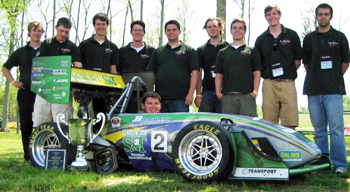 A Formula SAE car – built for speed.