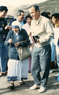Jim Towey and the late Mother Teresa