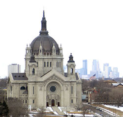 The St. Paul Cathedral can be seen from many areas of St. Paul.