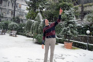 This may seem like quite a reach for Thanos Zyngas and the other citizens of Rome, but one could hazard a guess that the Bernardi Campus has had more snow this winter than all of the university's campuses in Minnesota combined.