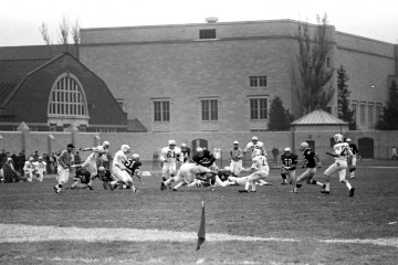 The rich history of Tommie-Johnnie football goes back much farther than 1969, but it's not a bad place to start . Here you get to see the Armory (left) and O'Shaughnessy Hall.