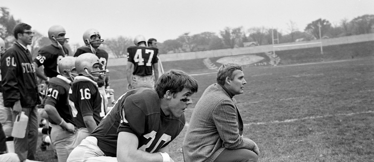 1969 head coach Nate Harlan.