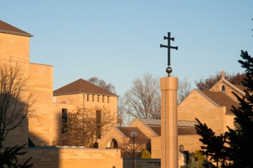 St. Paul Seminary School of Divinity rooftops and cross