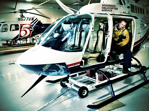 Brad in Chopper