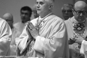 Cardinal Joseph Ratzinger, now Pope Benedict XVI, celebrated a Mass Feb. 12, 1984 in the Chapel of St. Thomas Aquinas.