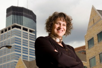 Environmental portrait of Opus College of Business (OCB) faculty Teresa Rothausen-Vange
