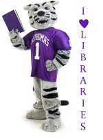 Look for this cards with this image of Tommie hidden throughout OSF Library this week.