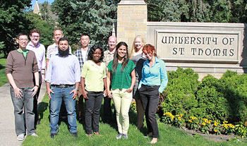 The World Press Institute fellows are spending three weeks at St. Thomas as part of their visit to the United States.