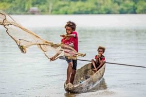 """This is one of seven images of Asmat life, taken by Joshua Irwandi, that are part of the exhibition. Irwandi, who is pursuing a master's in photojournalism in London, will discuss """"Covering Asmat"""" in a 4 p.m. talk Tuesday, April 8, in Room 202 of Anderson Student Center."""