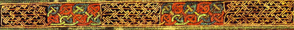 Celtic knots from the Book of Kells.