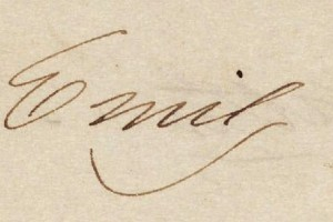 Emily Dickinson's signature.