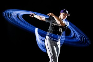 Baseball Light Painting