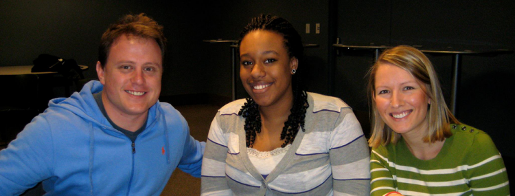 Molly McGraw Healy (right) pictured with mentee Jaelynne Palmer and co-mentor Nick Wallace.