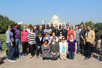 J-term group visits the Taj Mahal