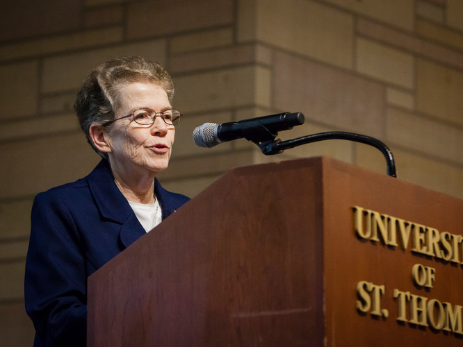 Sister Maureen McGuire, DC, executive vice president of Mission Integration for Ascension Health.