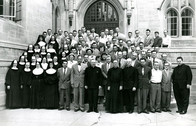 In 1951, most of the female Master of Education students were nuns.