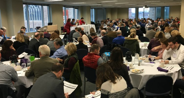 160 members of 55 family businesses learn about HR policies and paying family members at a December 2 event.