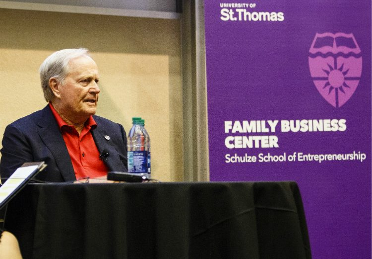 Golf icon Jack Nicklaus shares his family business story on September 30, 2016.
