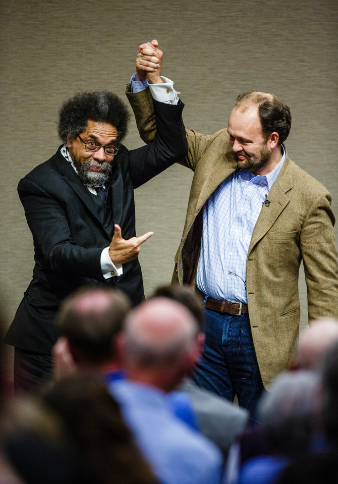 Ross Douthat and Cornel West
