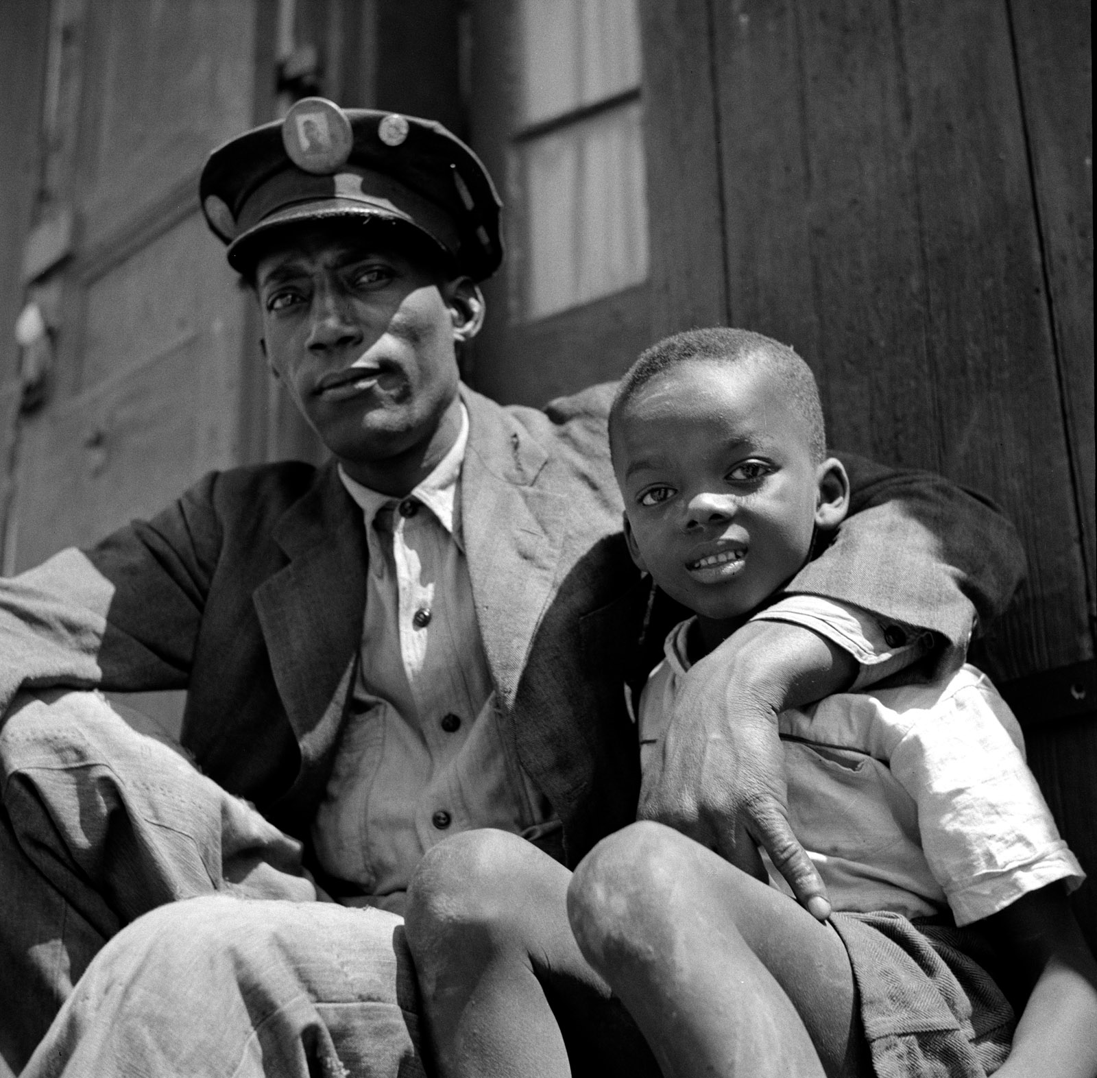 Dock worker and his son, New Orleans, March 1943