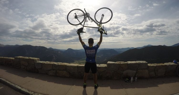 Junior Andrew Mohama biked more than 4,000 miles this summer to raise money for the Ulman Cancer Fund.