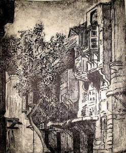 "Samah Fahmy's ""Cairo"" (etching, aquatint, drypoint and soft ground on zinc)"