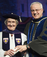 Sister Sally Furay and Father Dennis Dease