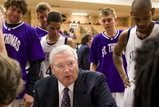 Steve Fritz has served as St. Thomas' athletic director for 19 years and men's basketball head coach for 30 years.