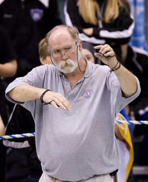 UST head swimming coach Dr. Tom Hodgson has been coaching UST swimmers since 1979.