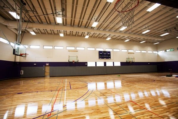 The pool at McCarthy Gym is gone, but in its place is this multipurpose, wood-floor gym that can be used for basketball, volleyball, pickle ball, badminton and other activities.