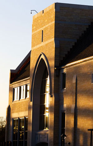 The late afternoon sun reflects off the Anderson Athletic and Recreation Complex that was dedicated Wednesday.