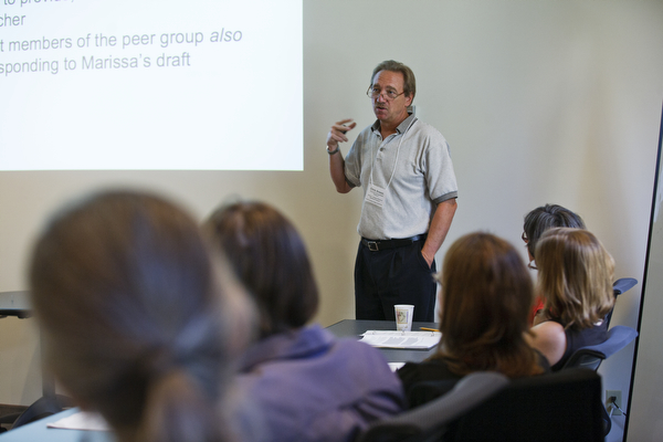 Dr. Chris Anson speaks to St. Thomas faculty at a Writing Across the Curriculum workshop in July.