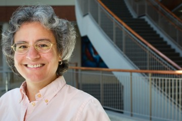 School of Law professor Susan Stabile is photographed for St. Thomas Lawyer Magazine in the Schulze Grand Atrium in the School of Law on Tuesday, July 26, 2011.