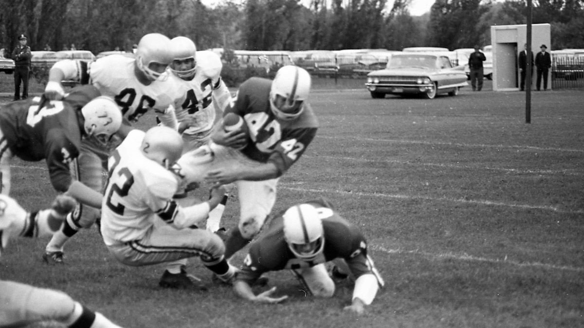 Yes, the Tommies lost the 1964 game at Saint John's, but check out the car in the background.