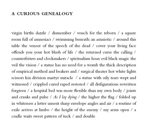 """""""A Curious Genealogy"""" is reprinted by permission from Rough, and Savage (Coffee House Press, 2012). Copyright © 2012 by Sun Yung Shin."""