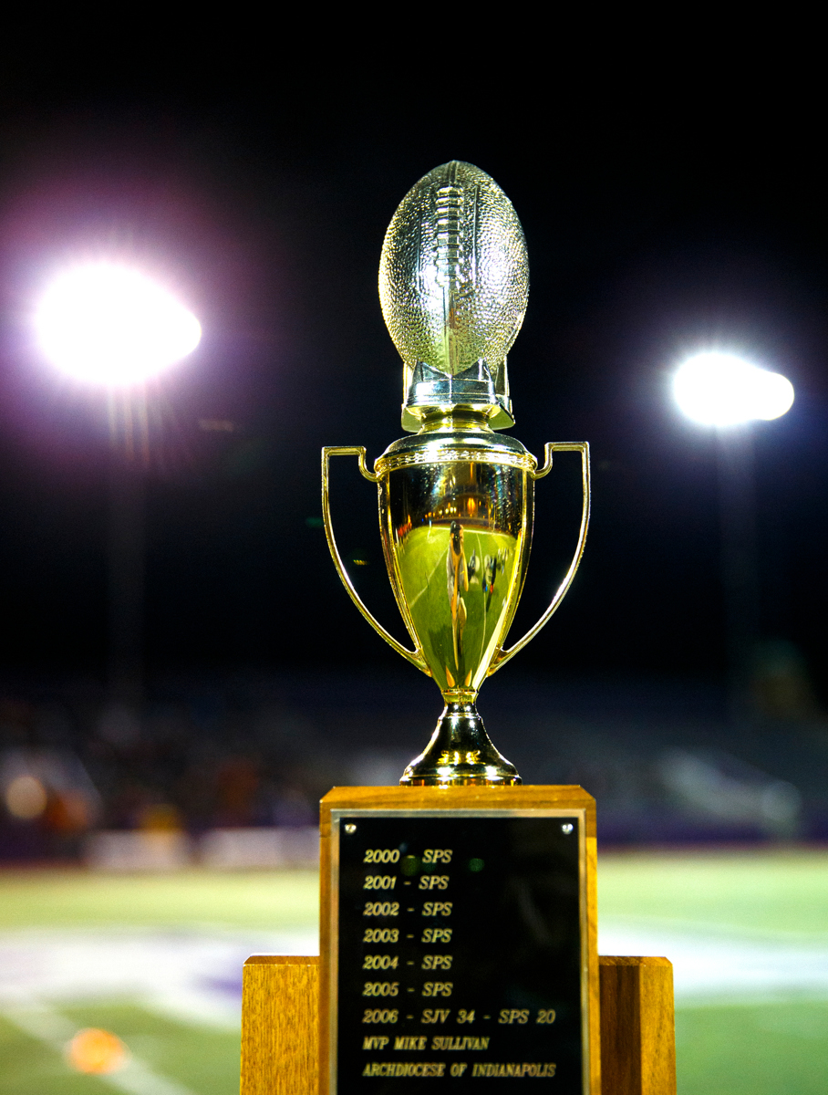The Rectors' Bowl trophy awaits the better team. (Photo by Mike Ekern '02)