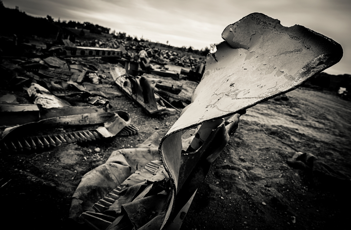 Workers expect the Afton site to be mostly empty of debris by Oct 18. (Photo by Mike Ekern '02)