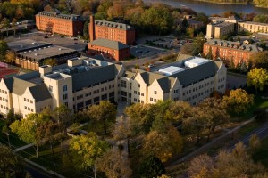 Aerial photo of the St. Paul campus of St. Thomas