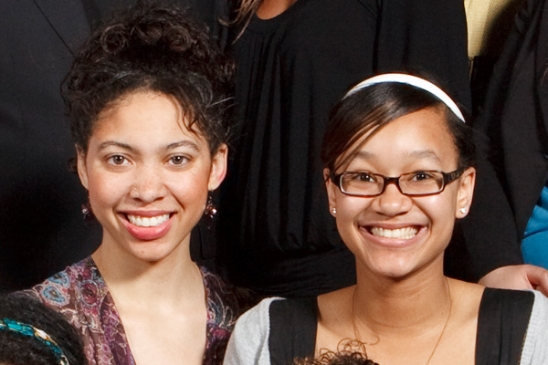 JRF Scholars Tasha Byers and Ashley Bailey in 2009. (Photo by Mike Ekern.)