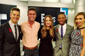 Jason Kennedy, Zach Zumbusch, Catt Sadler, Terrence Jenkins and Giuliana Rancic. (Photo provided)