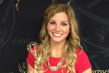 "Kari Jo Faulhaber '10 recently won an Upper Midwest Regional Emmy for ""A place to lay your head: Karl's story,"" a documentary that follows a homeless man's experience at the Dorothy Day Center."
