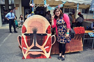 Maia Martucci '12 during a cultural festival in Japan. (Photo provided)