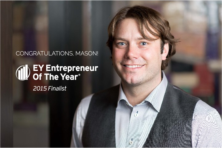 (Photo provided) Mason Thelen '04, Ernst & Young  Entrepreneur of the Year Finalist