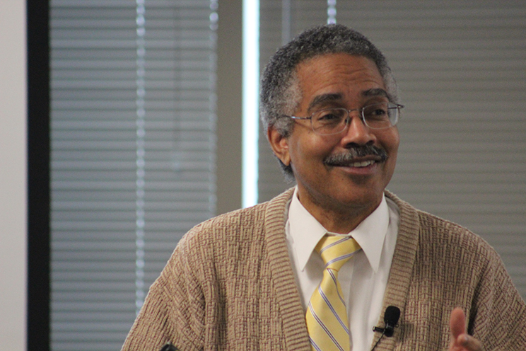 """Dr. William Allen presents """"Why and How Culture Matters"""" at the Graduate School of Professional Psychology First Annual Networking Event on November 8, 2014 in Opus Hall at the University of St. Thomas."""